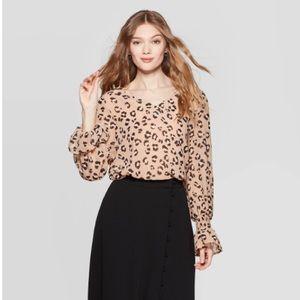 *Host Pick* A New Day Leopard Print Blouse SZ XXL